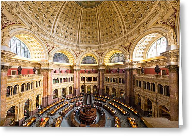 Library Of Congress I Greeting Card by Robert Davis