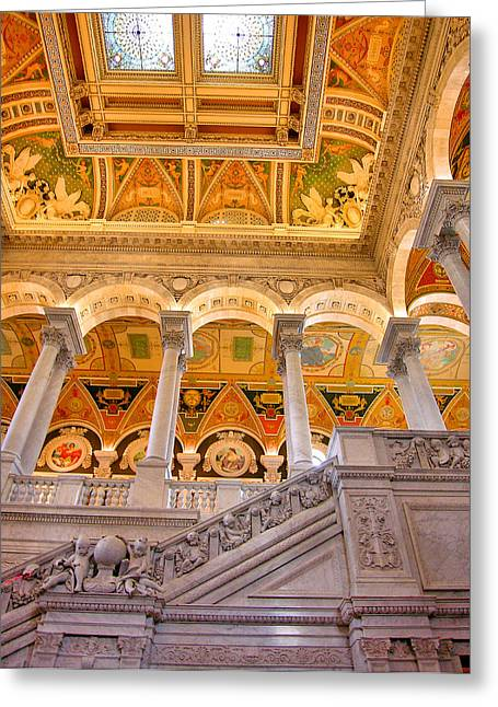 Library Of Congress II Greeting Card by Steven Ainsworth