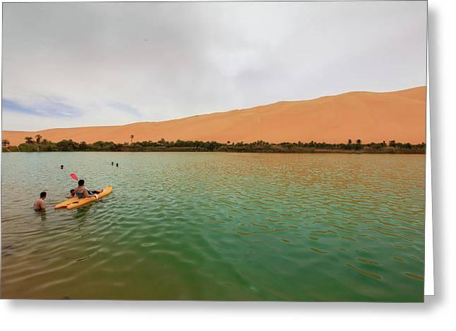 Libyan Oasis Greeting Card