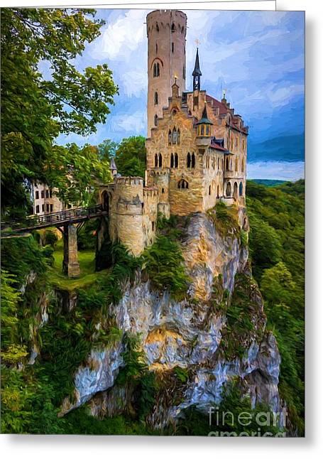 Lichtenstein Castle - Germany Greeting Card