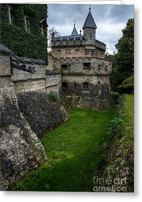 Lichtenstein Castle Moat - Baden Wurttemberg - Germany  Greeting Card