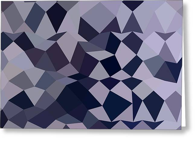 Licorice Black Abstract Low Polygon Background Greeting Card by Aloysius Patrimonio