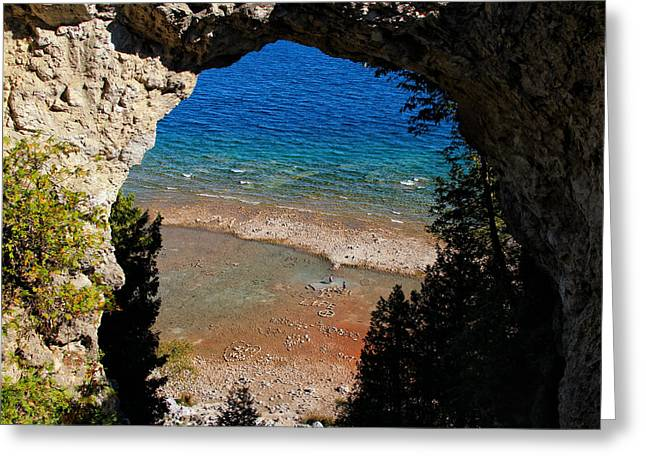 Life Below Arch Rock Greeting Card