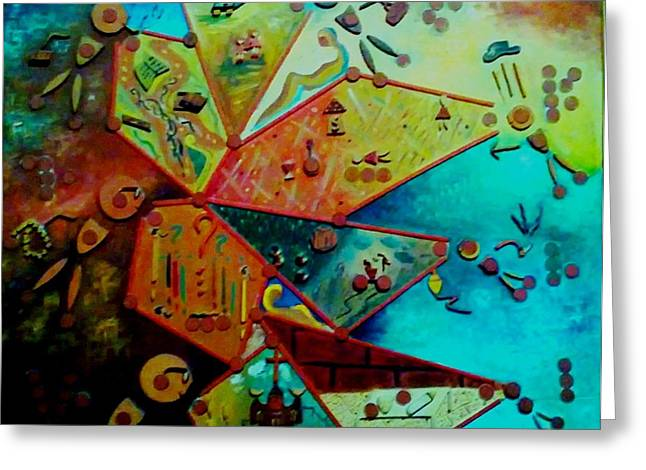 Greeting Card featuring the painting Life Cycle 1 by Ray Khalife