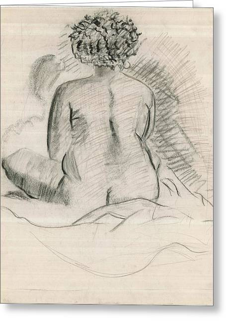 Life Drawing Greeting Card by Joseph  Arico