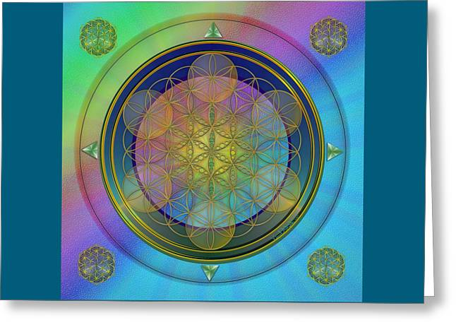 Greeting Card featuring the digital art Life Flower by Vincent Autenrieb