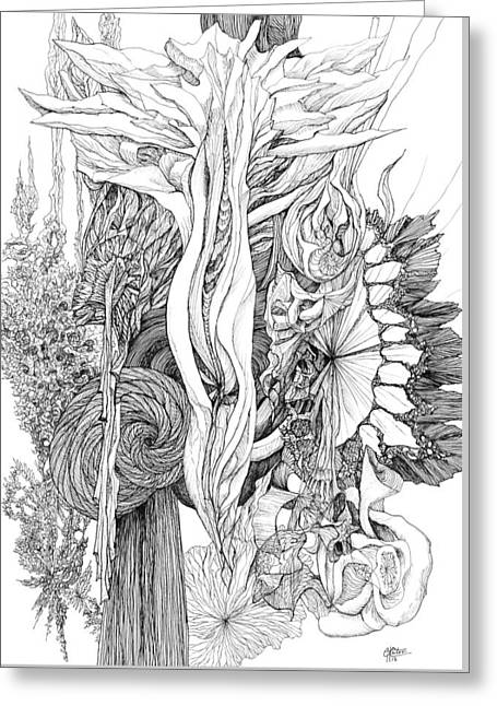 Life Force Greeting Card by Charles Cater