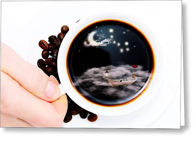 Life In A Cup Of Coffee Greeting Card