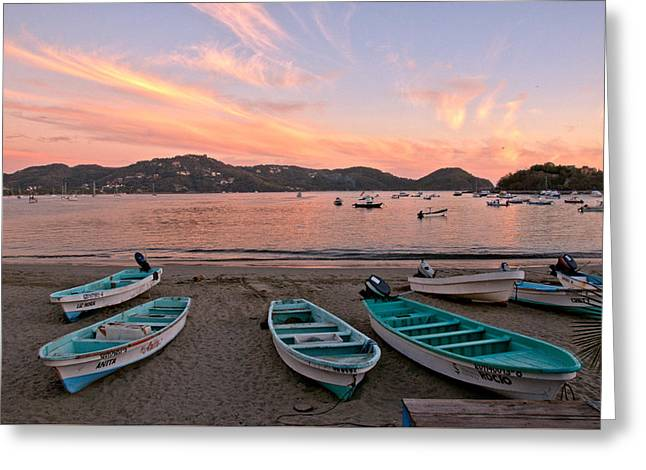 Life In A Fishing Village Greeting Card by Jim Walls PhotoArtist