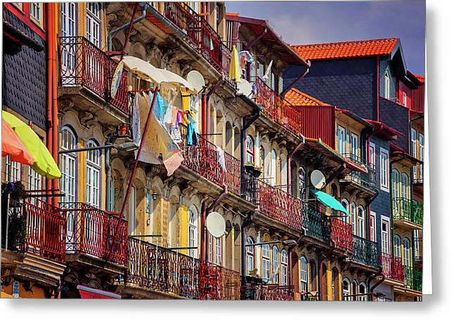 Greeting Card featuring the photograph Life In Ribeira Porto  by Carol Japp