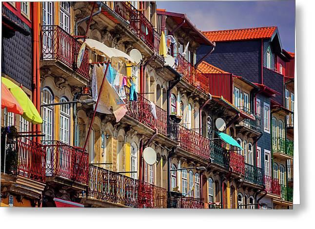 Life In Ribeira Porto  Greeting Card