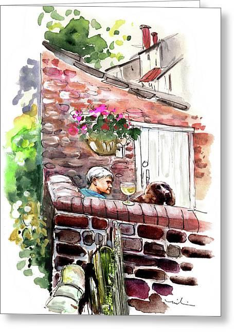 Life In Robin Hoods Bay Greeting Card by Miki De Goodaboom