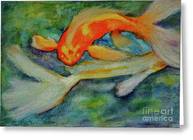Life In The Pond Greeting Card by Carla Stein
