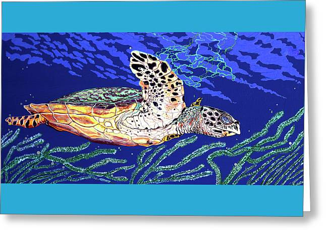 Life In The Slow Lane Greeting Card by Debbie Chamberlin