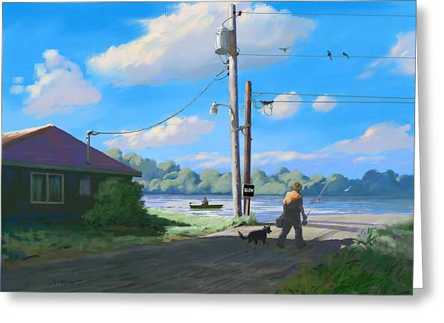 Life In The Slow Lane Greeting Card by Joseph Scott