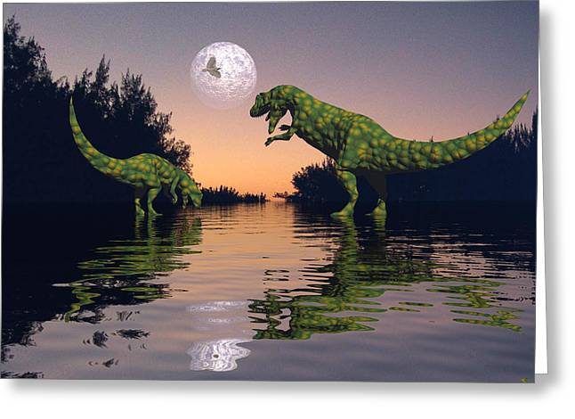 Life In The Swamp Greeting Card by Claude McCoy
