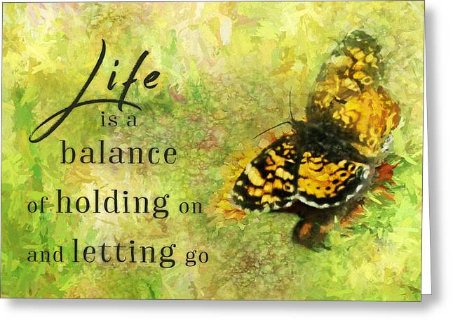 Life Is A Balance Greeting Card