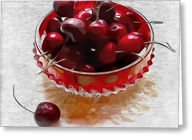 Life Is A Bowl Of Cherries Greeting Card by Alexis Rotella