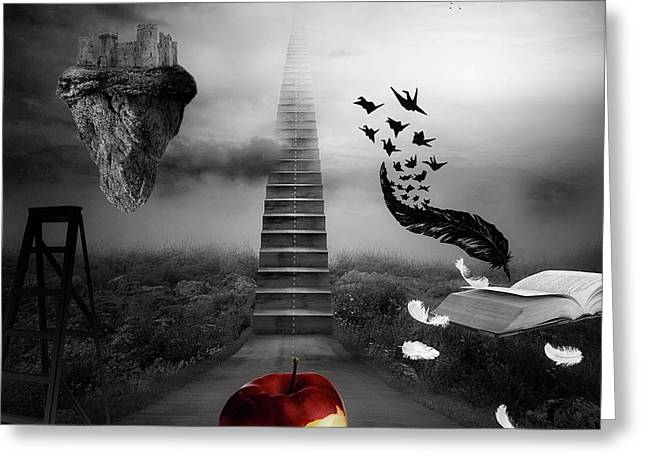 Greeting Card featuring the digital art Life Is A Stage by Mo T