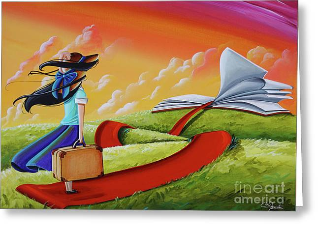 Life Is An Open Book Greeting Card by Cindy Thornton