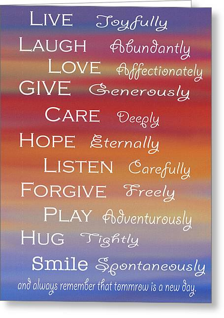 Life Is Beautiful Greeting Card by Art Spectrum