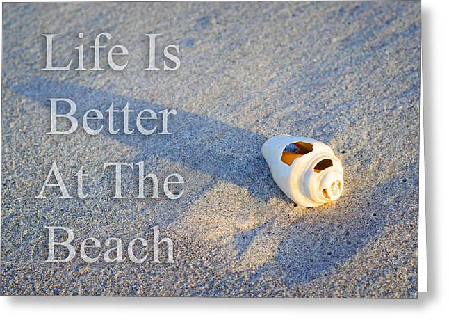 Life Is Better At The Beach - Sharon Cummings Greeting Card by Sharon Cummings
