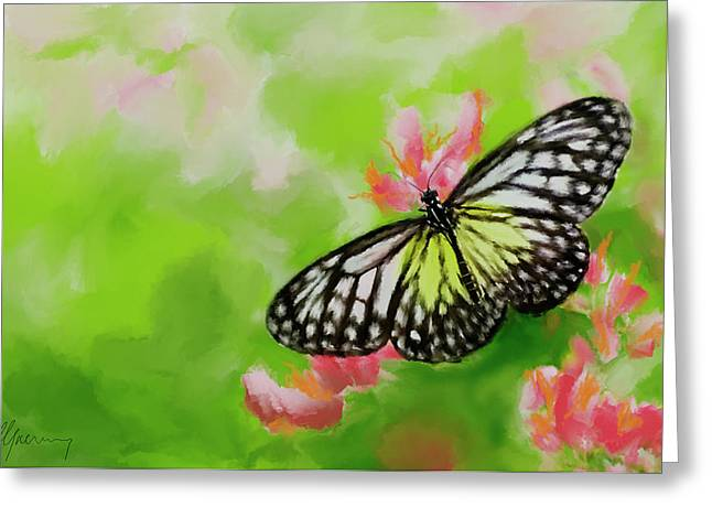 Life Is Like A Butterfly Greeting Card by Michael Greenaway