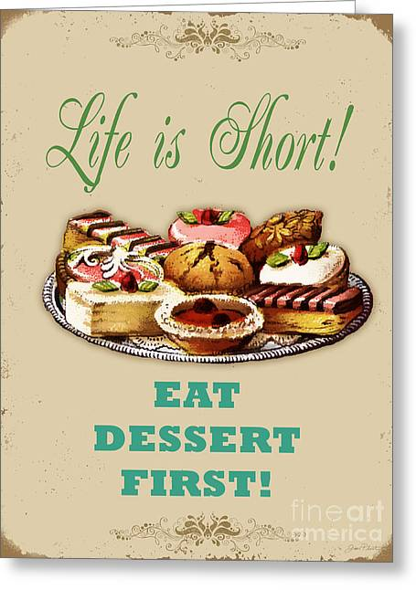 Life Is Short Typography-jp3733 Greeting Card