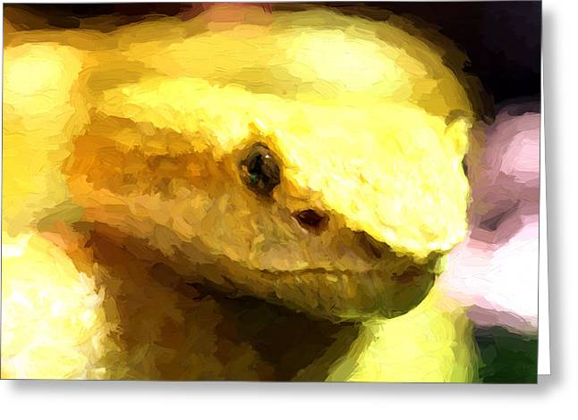 Life Is Yellow Greeting Card by JC Findley