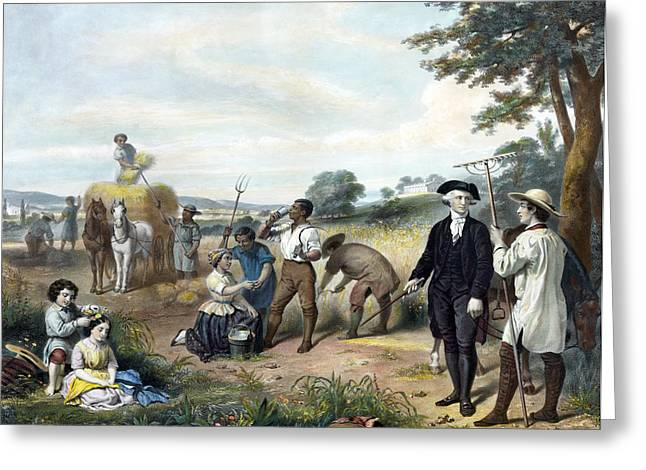 Life Of George Washington Greeting Card by Junius Brutus Stearns
