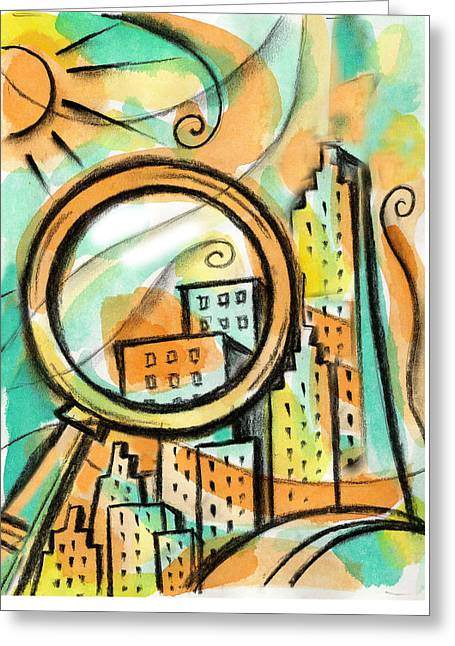 Life Of The Big City Greeting Card