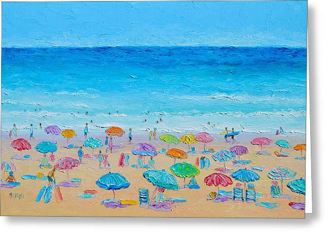 Life On The Beach Greeting Card by Jan Matson