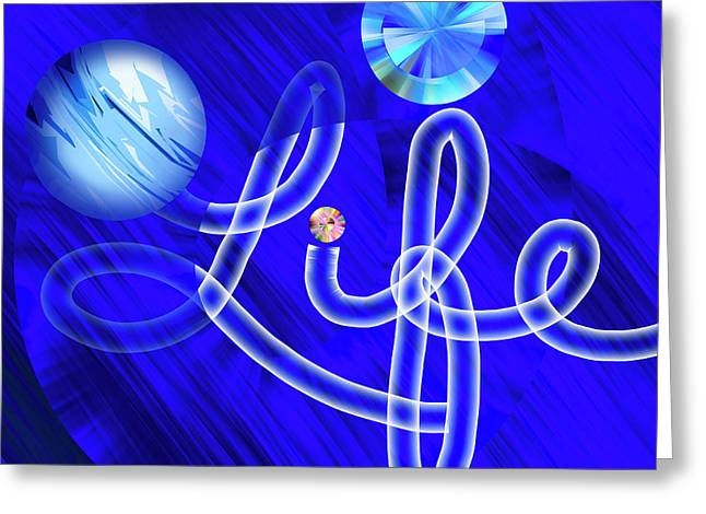 Life Out Of The Blue - Text Art Greeting Card