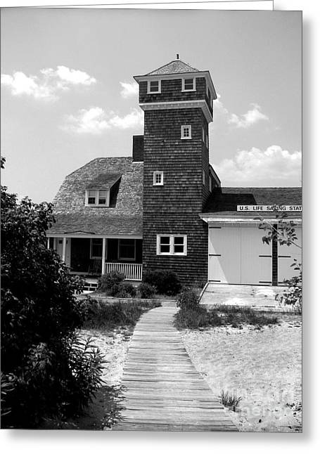 Life Saving Station Greeting Card by Colleen Kammerer