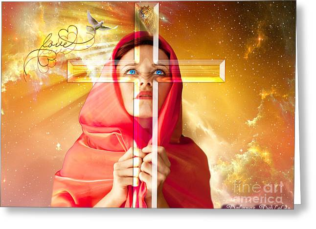 Life Seen Through The Cross Greeting Card by Dolores Develde