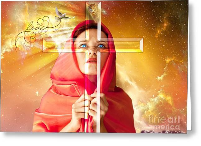 Life Seen Through The Cross Greeting Card