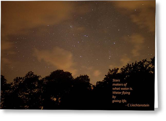 Life, Water And Stars Greeting Card