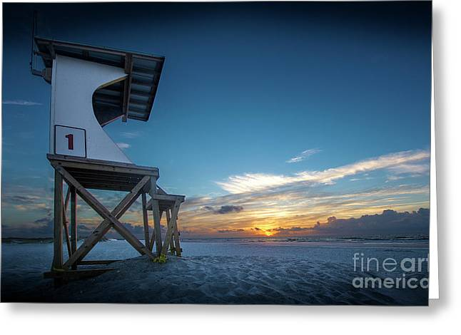 Greeting Card featuring the photograph Lifeguard by Brian Jones