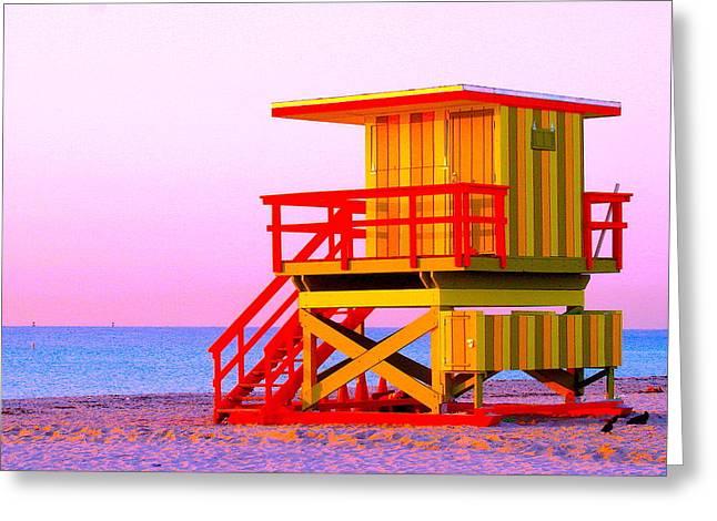 Lifeguard Stand Miami Beach Greeting Card