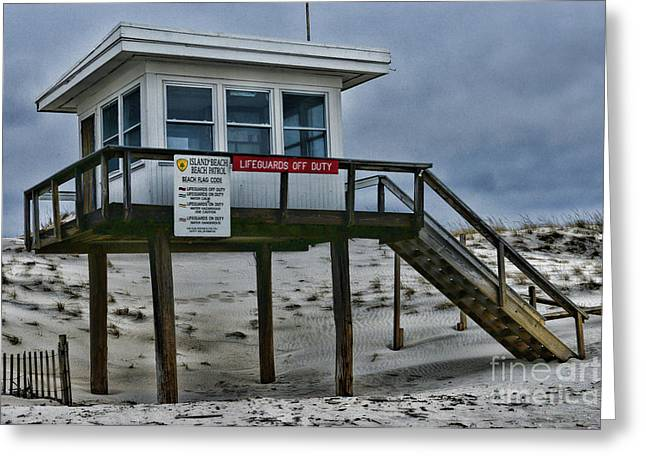Lifeguard Station 1 Greeting Card by Paul Ward