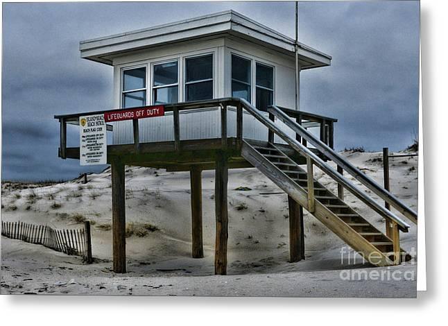 Lifeguard Station 2  Greeting Card by Paul Ward