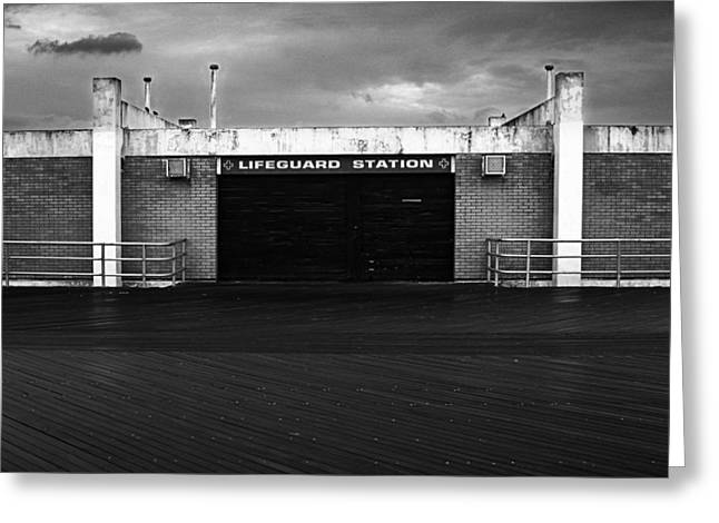 Lifeguard Station, Coney Island Greeting Card by Catherine Jones