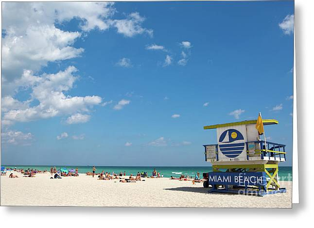 Lifeguard Station Miami Beach Florida Greeting Card