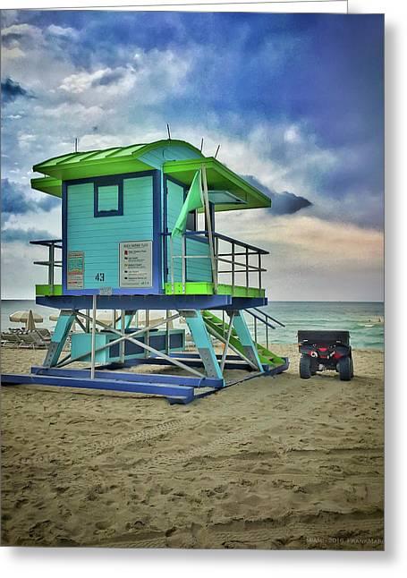 Lifeguard Station - Miami Beach Greeting Card