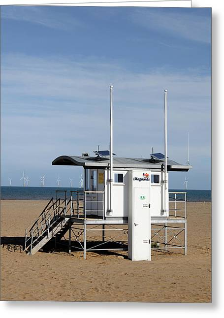 Lifeguard Station - Skegness Greeting Card by Rod Johnson