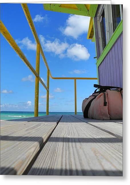 Lifeguard Tower 2.2 - South Beach - Miami Greeting Card