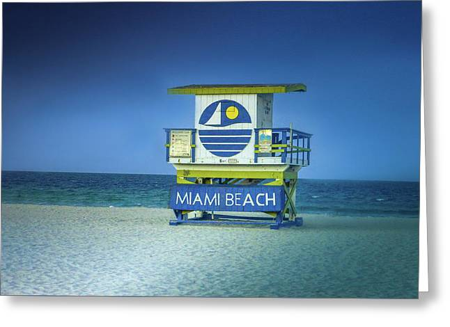 Lifeguard Tower Greeting Card by Art Spectrum