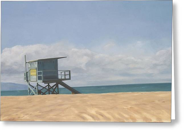 Lifeguard Tower Greeting Card by Merle Keller