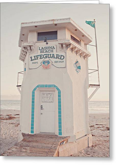 Ocean Photographs Greeting Cards - Lifeguard Tower Greeting Card by Nastasia Cook