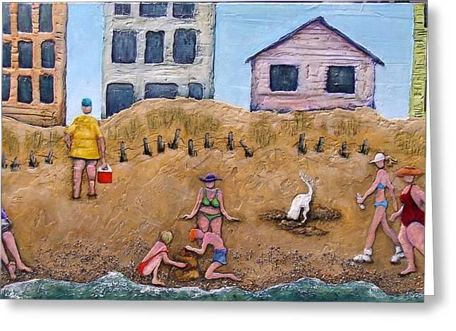 Life's A Beach Greeting Card by Linda Carmel